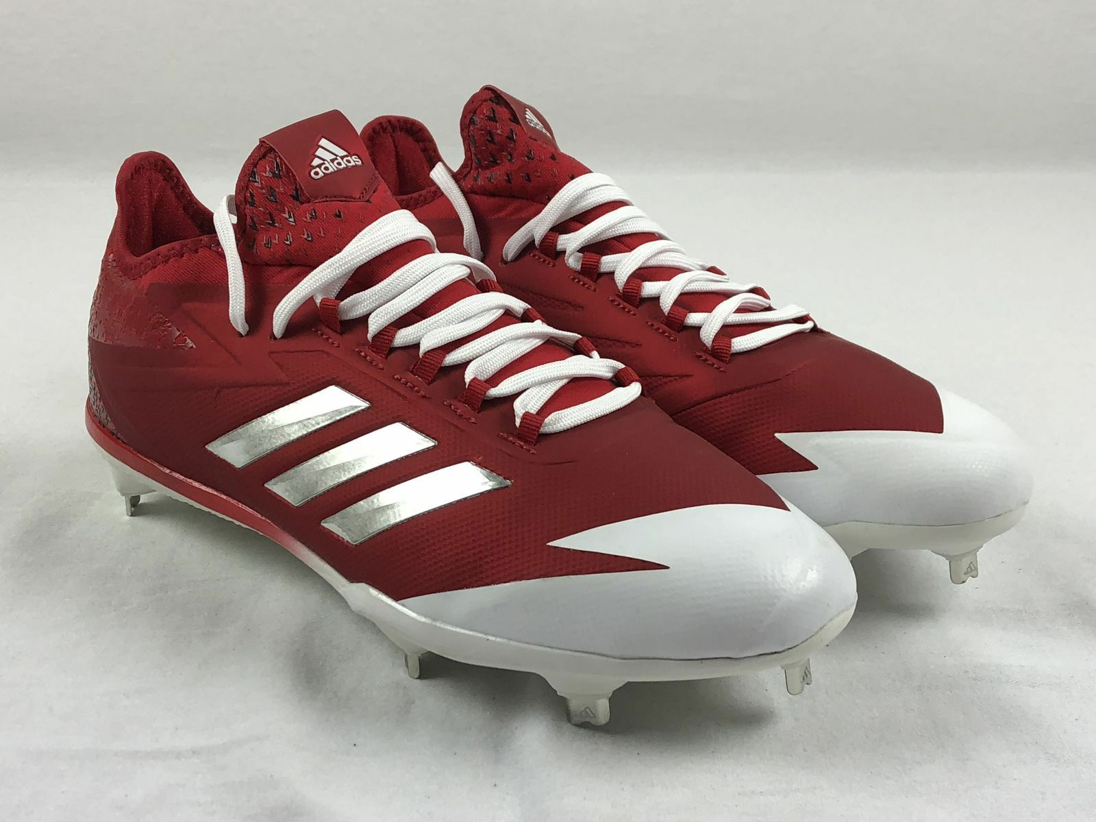 NEW adidas adizero Afterburner 4 - Red Cleats (Men's 12)