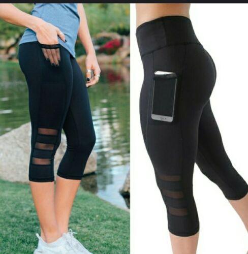 M Women fashion slim yoga fitness leggings side pocket
