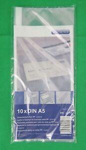 Details Zu Prooffice 10 Visitenkarten Hüllen A5 Pp Folie Transparent