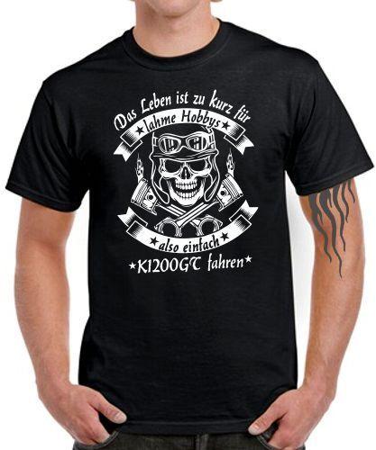 K1200GT Tuning T-Shirt LEBEN HOBBY EINFACH FAHREN Motorrad Treffen zubehör Teile