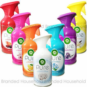 6 AIR WICK AIRWICK PURE AIR FRESHENER ROOM SPRAY FRESH OFFICE HOME