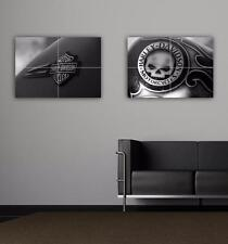 HARLEY DAVIDSON - FUEL TANK ART - PAIR - 2 X TOP QUALITY GIANT POSTER ART PRINTS