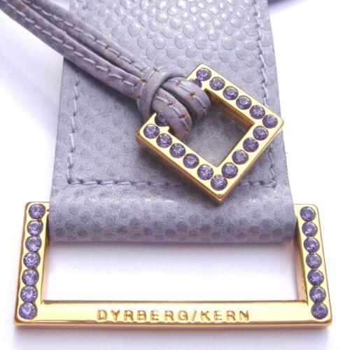 Dyrberg núcleo set Port viola Collar de cuero y pulsera de cuero violeta//Golden