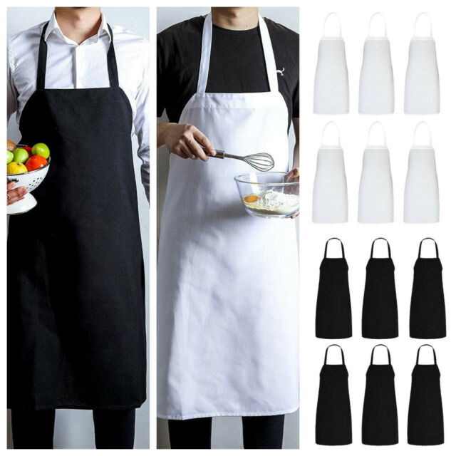 Striped Apron Kitchen Cooking Chef Catering Butcher Bbq Chef Front Pocket Apron