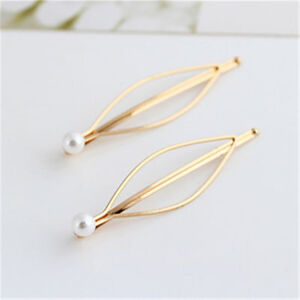 New-1Pair-Girls-Pearl-Hair-Pin-Barrette-Clips-Side-Hairpin-Hair-Accessories