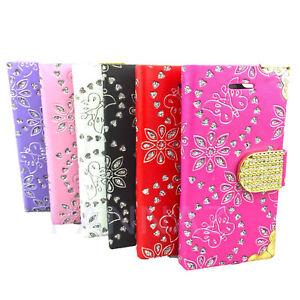 Pelle-Ornamento-Del-Diamante-Portafoglio-Custodia-Libro-Cover-per-Apple-Iphone