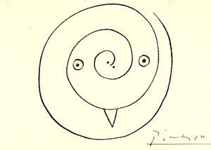 PABLO-PICASSO-1964-SIGNED-LITHOGRAPH-COA-UNIQUE-GIFT-Great-Rare-Art-FIND