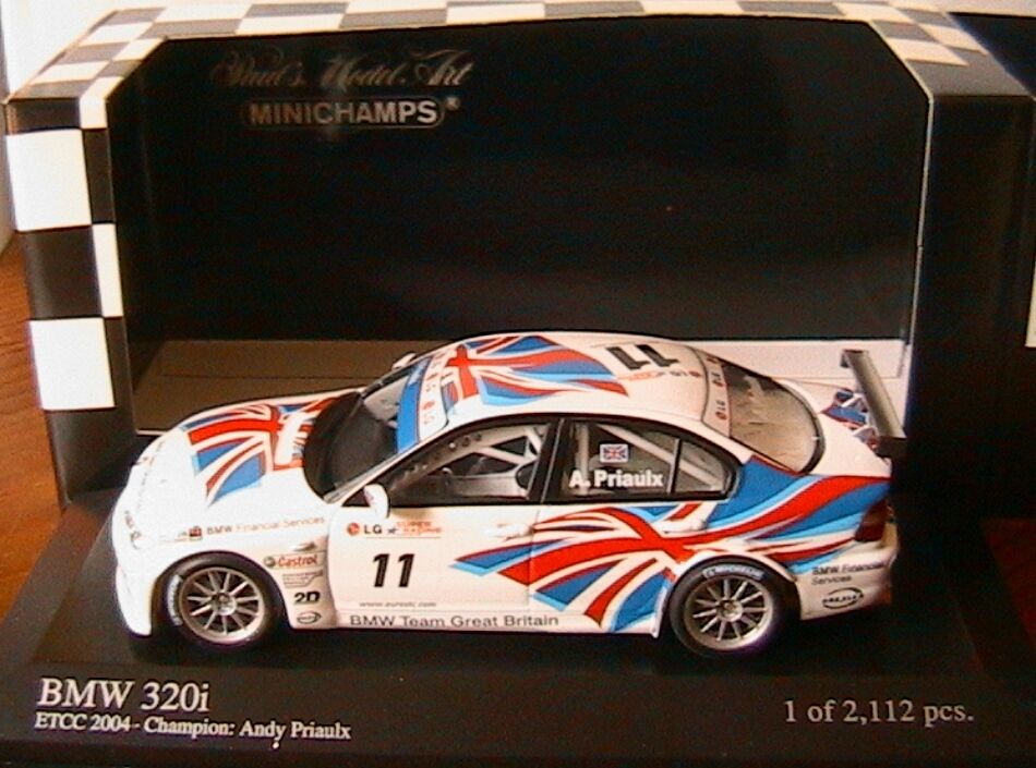 BMW 320I  11 TEAM UK ETCC 2004 CHAMPION ANDY PRIAULX MINICHAMPS 400042411 1 43