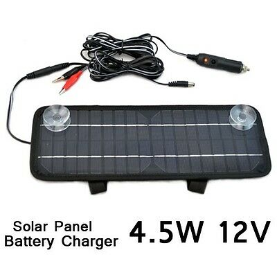 New Solar Panel Battery Charger Kit Car Boats motorbike 4.5W 12V Multi-Purpose