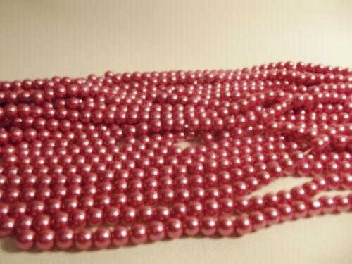 Pcs x Verre Perle 8 mm Perles rondes #89A Blush Rose 100