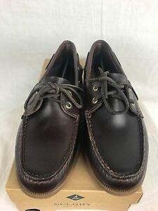 New Scarpa Amaretto Original o Sperry in Eye Boat pelle libera Mens A 2 rU6rROwxzq