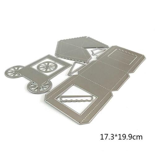 DIY Popcorn Box Metal Cutting Dies Stencil Scrapbooking Album Stamp Paper Card