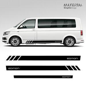 Volkswagen-VW-EDITION-Transporter-Side-Stripe-Set-Decals-T5-T6-Vehicle-Graphic