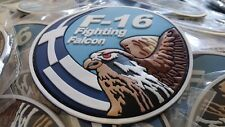 F-16 GREEK AIR FORCE SWIRL 3D PVC PATCH (COLORED)