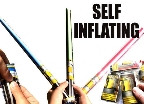 Auto Inflar Star Wars Sable De Luz Juguete Niños Diversión Fiesta De Cumpleaños Bolsa Rellenos