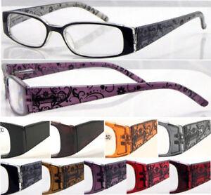 L362-Superb-Quality-Reading-Glasses-Ladies-Flower-Design-Fashion-amp-Spring-Hinges