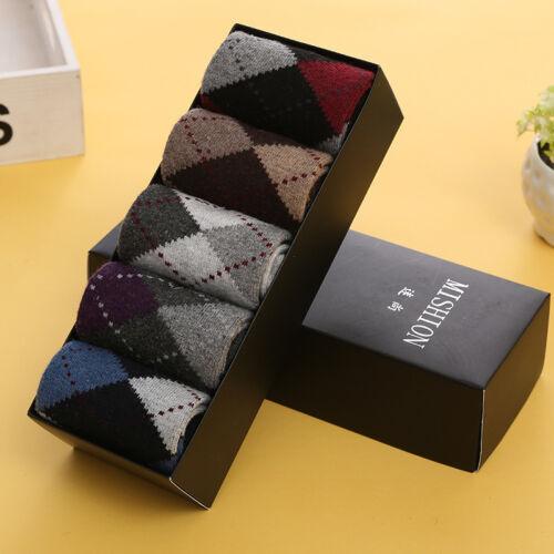 5 Pairs Mens Warm /& Soft Comfort Wool Cashmere Dress Sock Winter Thick Socks New