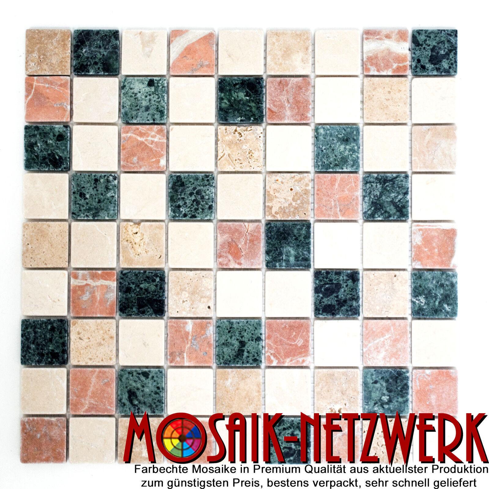 Marmormosaik mix Random Fliesenspiegel Wandverkleidung Art  42-1204   10 Matten