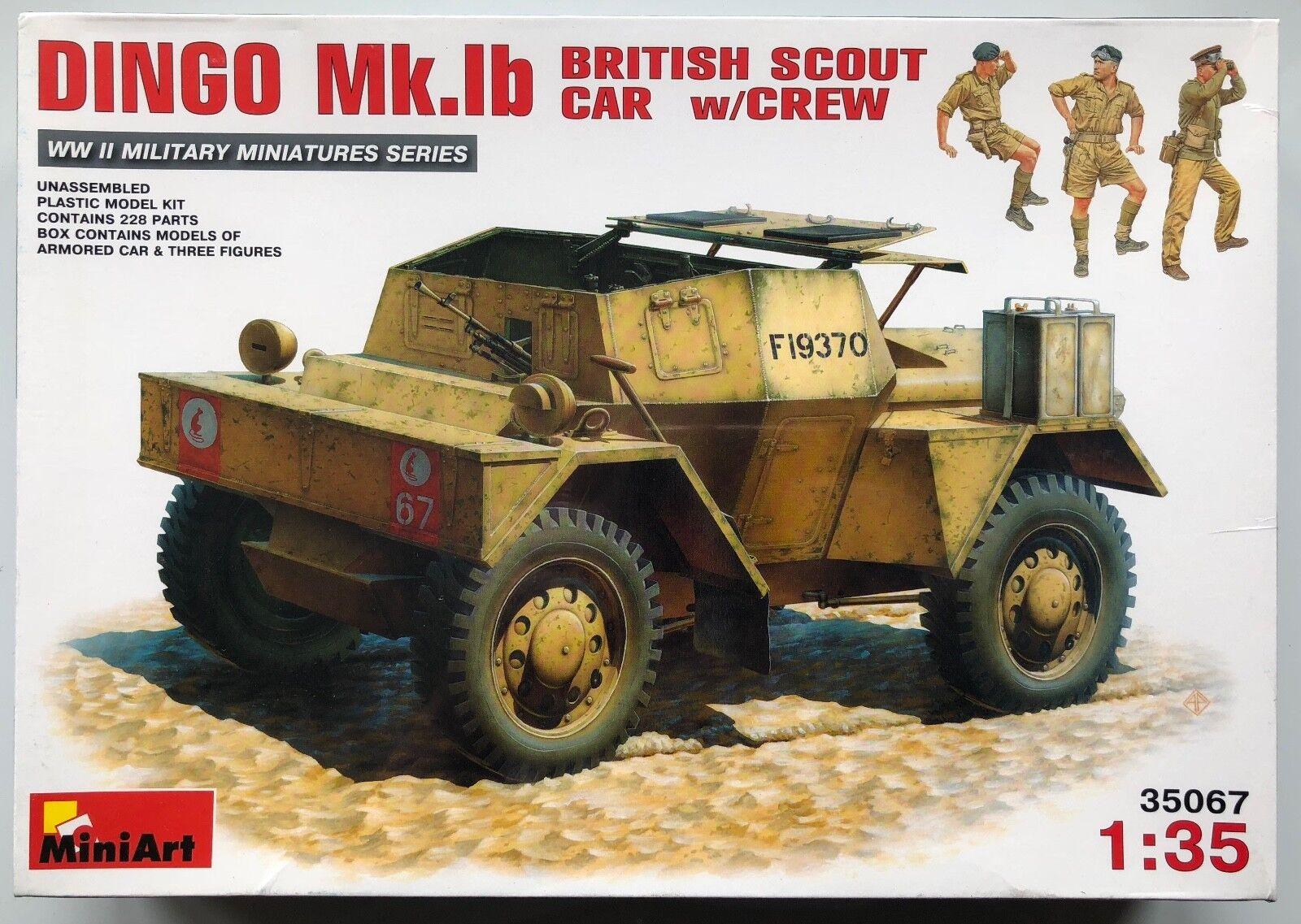 MiniArt 35067 Dingo Mk.Ib British Scout Car w Crew 1 35 Military Model Kit NIB