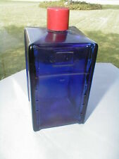 Avon Mailbox Cobalt Blue Glass USPS Post Office Bottle- Empty 1970-1971