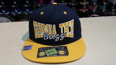 first rate performance sportswear really cheap NCAA Georgia Tech Yellow Jackets 2 Tone Team Logo on Side Retro ...