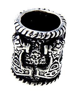Beard Bead Silver 925 Thor's Hammer Viking Viking Beard Jewelry Thor Hammer 1146