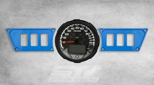 Blue Custom Billet Black Dash Panel Plate for Polaris RZR 1000
