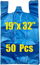Royal 7 50ct Jumboextra Large Plastic Grocery Reusable T Shirts Carry Out Bags
