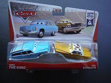 DISNEY PIXAR CARS MRS THE KING TEX DINOCO 2 PACK 2013 SAVE 5% WORLDWIDE