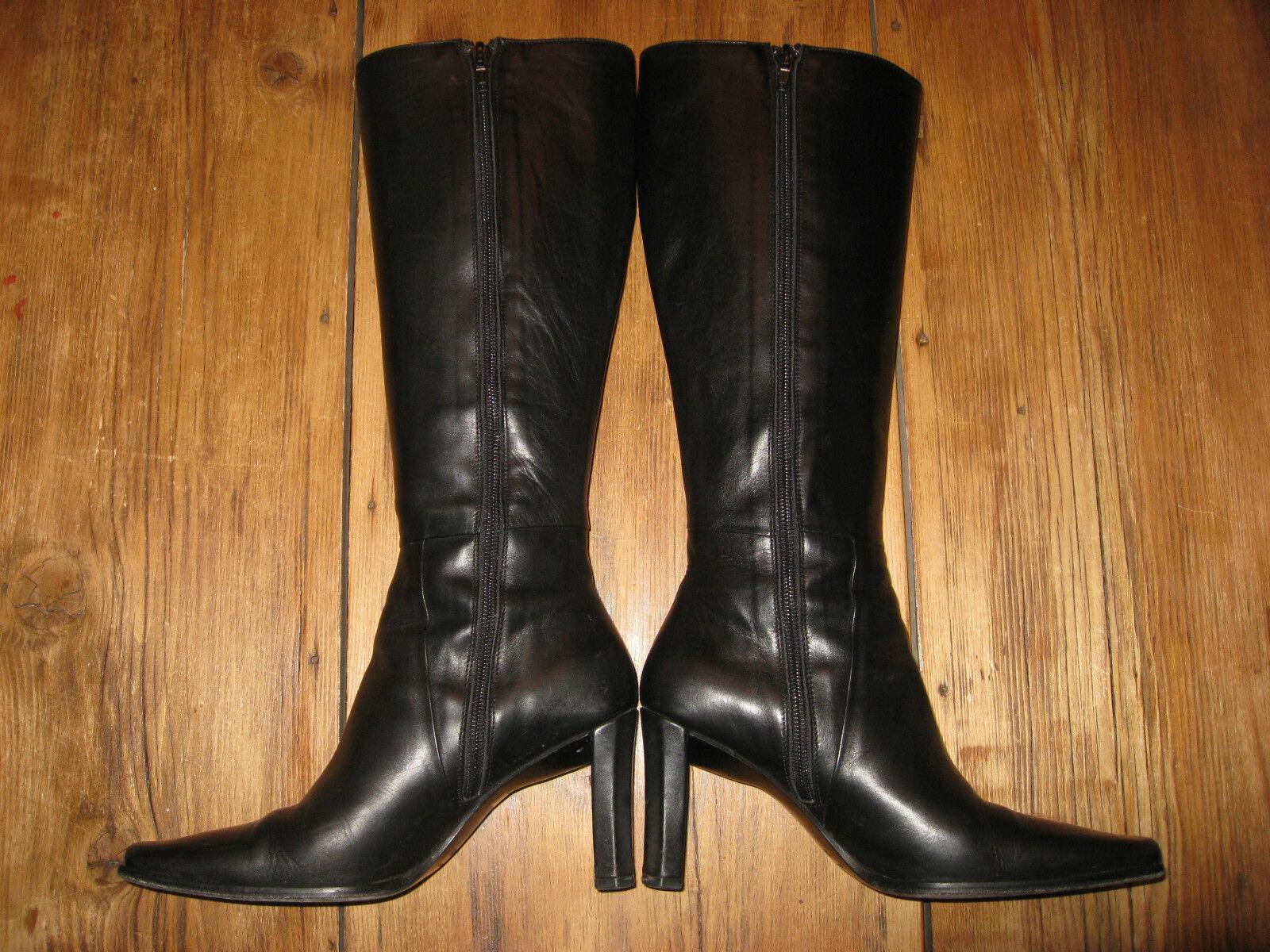 Charles David botas De Cuero Negro Talla 5.5 de alto EUC estilo zanny al por menor  315 EUC alto e201da