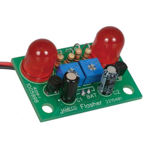 Jumbo LED Flasher Electronics Solder Kit 2 pcs