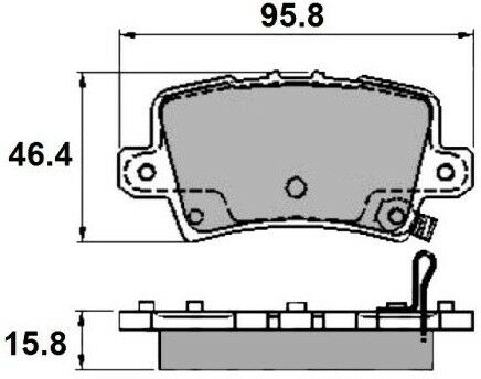 Set of EB Rear Brake Pad/'s to fit Honda Civic 05 />
