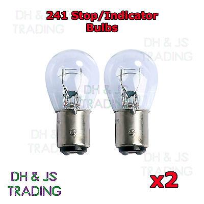 2 x 241 Brake Light Indicator Stop Tail Car Bulbs Bulb 24v 21w BAY15S SCC