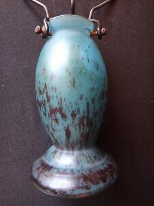 Pied-de-lampe-pate-de-verre-signe-Lorrain-verrerie-Daum-Old-glass-lamp-Art-Deco