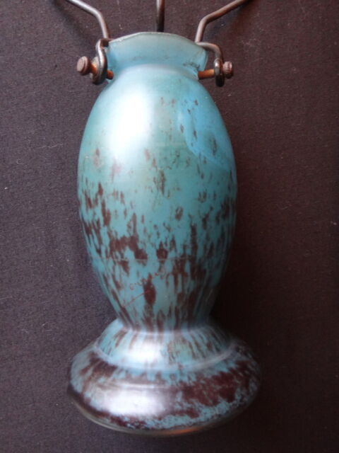 Pied de lampe pate de verre signé Lorrain verrerie Daum Old glass lamp Art Déco