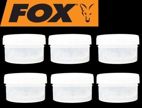Angelbox für Karpfenköder 6 Köderdosen Fox Bait Tubs Half Size Clear