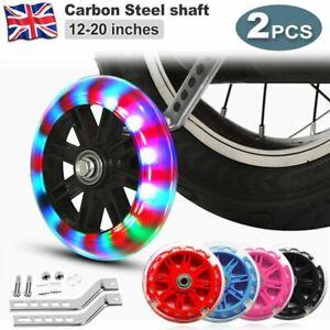 For 12-20/'/' Bike Stabilisers Wheel Kid Bikes Cycle Training Flashing Wheels Pink