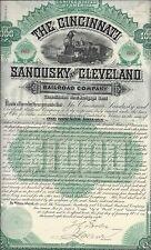 THE CINCINNATI,SANDUSKY AND CLEVELAND RAILROAD COMPANY...1888 MORTGAGE BOND