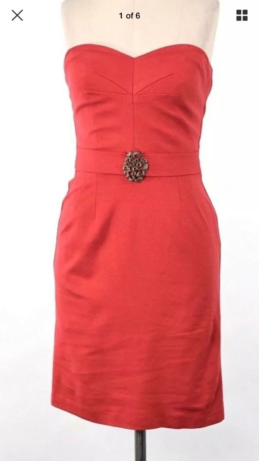 Cranberry Trina Turk Strapless Knit Knit Knit Dress NWT Size 12  328 55c6c4