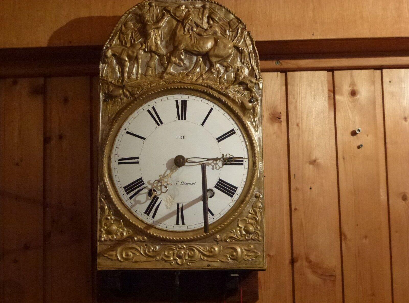 Comtoise Uhr mit Repitition um 1850 Lyrapendel