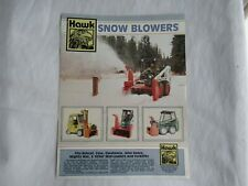 Hawk Snow Blower Specification Sheet Brochure For Case Jd Bobcat Skid Loader
