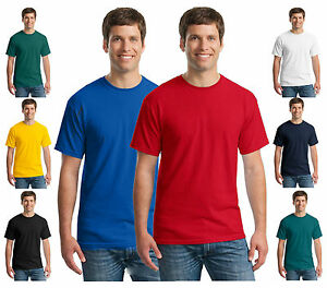 Mens-RockBerry-Plain-100-Cotton-Casual-Short-Sleeve-Rib-Crew-Neck-T-Shirt-Top
