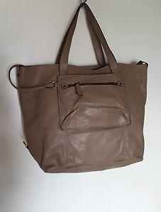 ABACO BAG KABACO SHOPPING BAG HOLDER SHOULDER COWHIDE LEATHER TAUPE ... 66b3913efc9