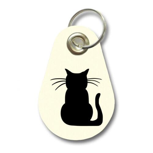 Samunshi Schlüsselanhänger Katze aus Filz  12 Farben 9,5x6,5cm