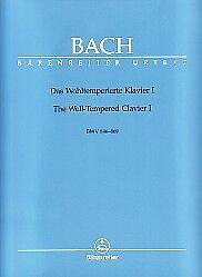 Diplomatique Bach Well Tempered Clavier 1 Ed Durer Piano-afficher Le Titre D'origine
