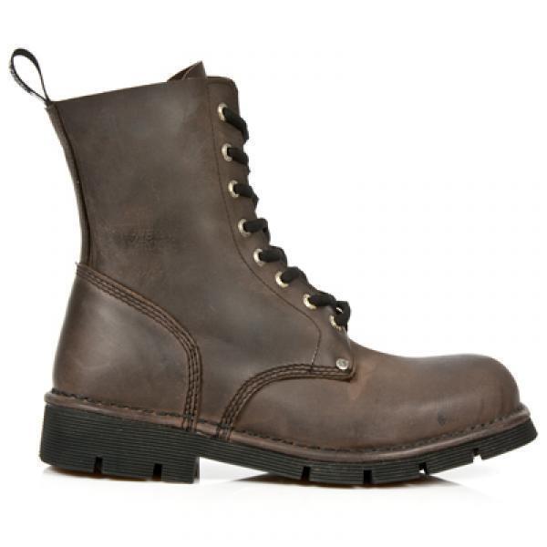 Rebajas new rock m. newmili 084-s2 damas damas damas 8-agujero real botas de cuero marrón tamaño 39 033b52