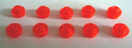 10 x LEGO® 30057 1 x1 transparent orange flach rund wie auf dem Foto Neuware