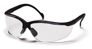 12 Pair of Pyramex Venture II Safety Glasses SB1810S Clear Lens with Black Frame