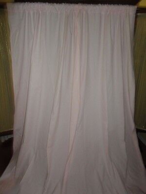 POTTERY BARN KIDS PINK (PAIR) SAILCLOTH POLE TOP PANELS 100% COTTON 44 X 84