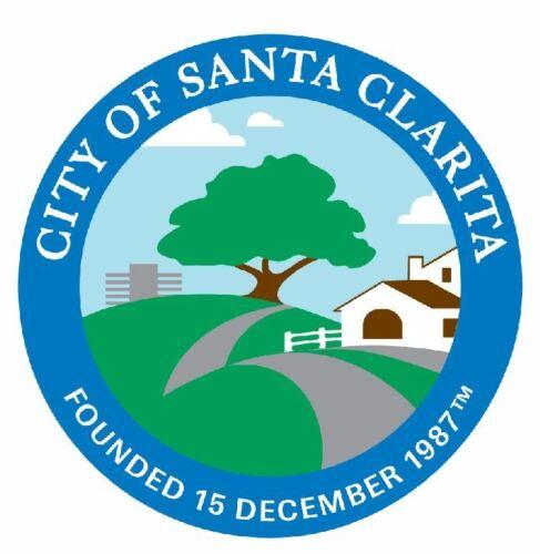 Seal of Santa Clarita California Sticker Decal R704